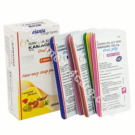 Kamagra oral jelly 100mg   200 Sachets @ $400 Only